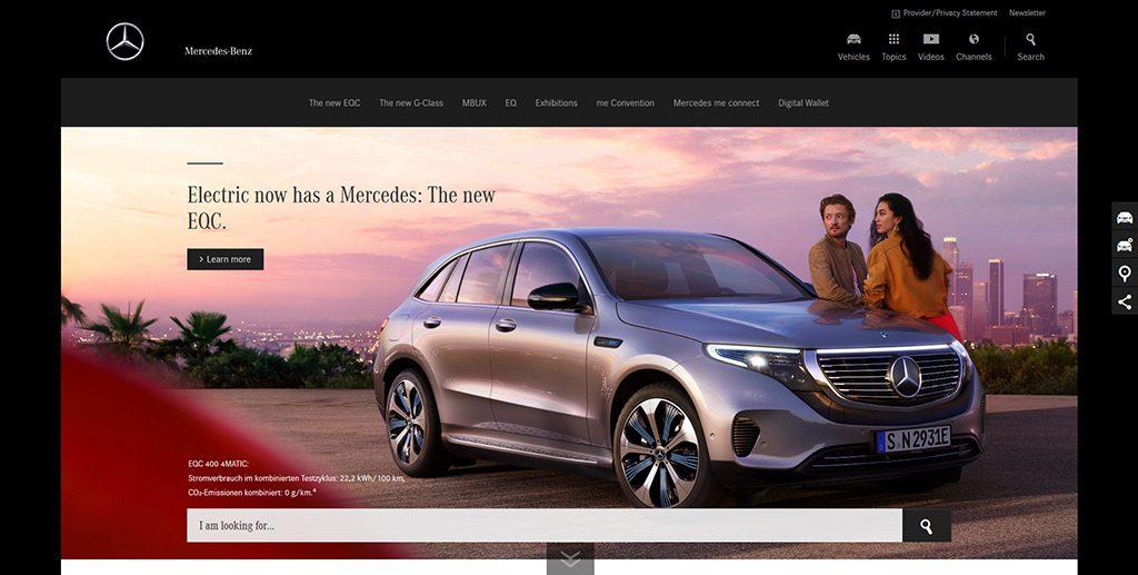 Famous WordPress Websites - Mercedes Benz
