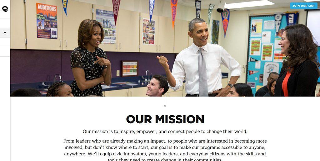 Famous WordPress websites - Barack Obama
