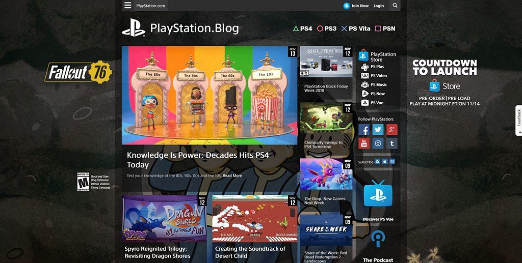 Famous WordPress Websites - PlayStation